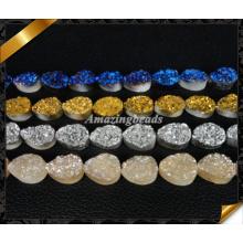 Druzy Agate Beads, Jewelry Stone Durzy, Durzy Cabochon, 12X16mm Teardrop Druzy (YAD030)
