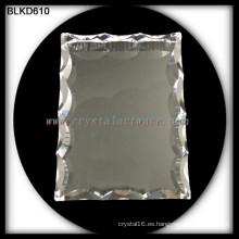 K9 alta calidad cristal en blanco foto marco para grabado láser