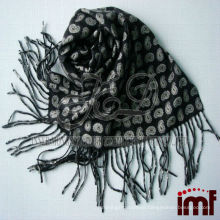Men Reversible Print Wool Scarf