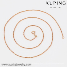42976 Promotional Hot Sales Rose Gold Necklace Cheap Gold Plated Chains