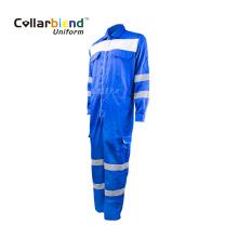 Salopette de sécurité FR en tissu de travail réfléchissant bleu