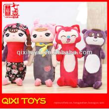 bolsos calientes personalizados de la pluma y del lápiz de la felpa del estilo animal de la venta para los niños