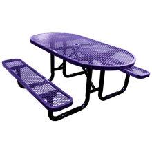 Kohlenstoffstahl, Esstisch mit Stühlen
