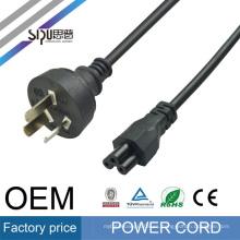 SIPU de alta calidad AU cable de corriente alterna para laptop mejor precio iec c15 Cable de alimentación de la computadora cable de cobre al por mayor eléctrico