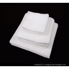 Tampon de gaze médical absorbant blanc jetable en coton stérile