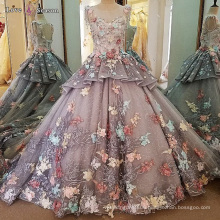 LS00103 luxury appliques rainbow evening gown india beaded evening dresses with sleeve