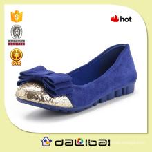 China fábrica OEM quente vendendo senhoras grandes arco flexível plana sapatos