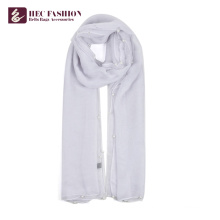 HEC Most Popular Items Women Printed Long Plain Polyester Scarf