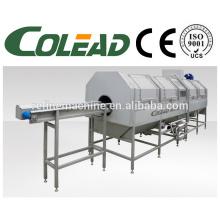 SUS304 areia de aço haste precooking máquina / folha vegetais branqueamento máquina / vegetais branqueamento máquina