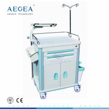 Popular personalizado con carro de transferencia quirúrgica manual de hospital de primeros auxilios de polo iv