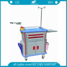 AG-ET011A1 con una puerta hospital ABS instrumentos médicos plástico utilidad carro