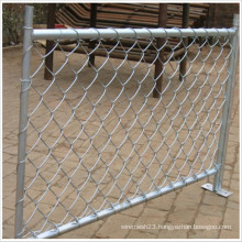 Temporary Fence / Metal Frame Material and Hot Dipped Galvanized Chain Link Fence