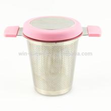 Hot Selling Wholesale Custom Stainless Steel Basket Mesh Tea Strainer With Lid
