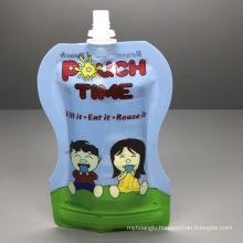 Juice Drink Milk Package Bag Customized Children Cute Soy Bean Milk Spout Bag