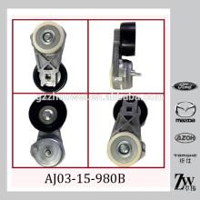 Verstellbarer Riemenspanner und Riemenscheibe, Keilrippenriemen für MAZDA Tribute, MPV AJ03-15-980B