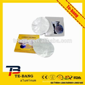 25mic 12cm de largeur carré aluminium Hookah Shisha feuille avec trou