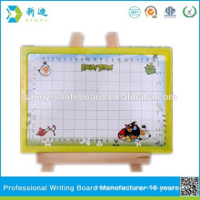 Plastic dry eraser board a4 size with frame