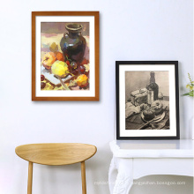 Amazon Hot Sale Creative Office Photo Light Mixtiles Frame Wooden Table Top Picture Photo Frame Set for Wall Decor