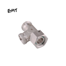 EMT Hydraulic Pipe Fittings Compression Tube Connector Stainless Steel Union Male Run Tee Saline Water Air Hydraulic Oil 3 WAY