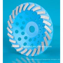 Roda abrasiva diamantada para moagem e polimento de concreto