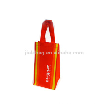 80% Recyle non woven wine bag shopping bag with silk printing