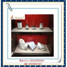 Saco de filtração de pó de fibra de vidro não alcalino de alta temperatura com PTFE expandido para fábrica de cimento