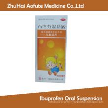Suspension orale à l'ibuprofène analgésique médical