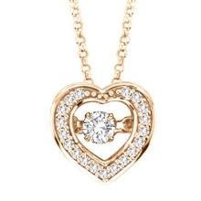 Gold Teller 925 Silber Tanzen Diamant Anhänger Schmuck
