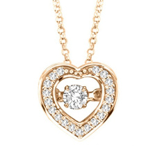 Gold Plate 925 Silver Dancing Diamond Pendants Jewelry
