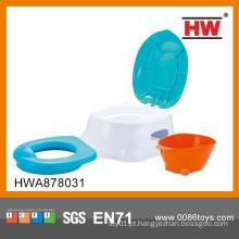 Cadeira de plástico de alta qualidade de plástico azul e branco do potty