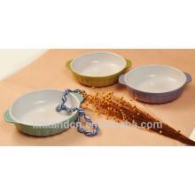 Haonai colorful beauty ceramic pet bowl