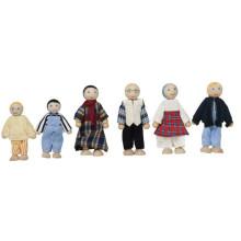 Happy Wooden Family Dolls Set