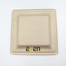 Biodegradable Square Sugar Cane Sugarcane Bagasse And Compostable Eco-friendly Plate