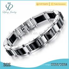 Unique silver stainless steel bracelet,mens heavy bracelet