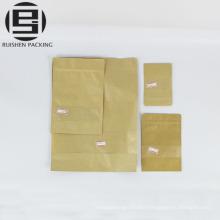 Custom paper zipper packing bag for food