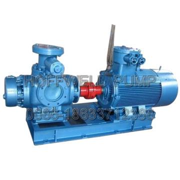 Bomba horizontal del tornillo de aceite del motor doble