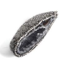 Pendentif en pierre naturelle Pendentif en pierres précieuses Pendentifs en pierre Druzy Vente en gros pour hommes et femmes Cadeau