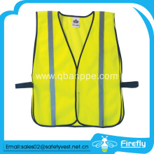 high visibility yellow vest breathable mesh