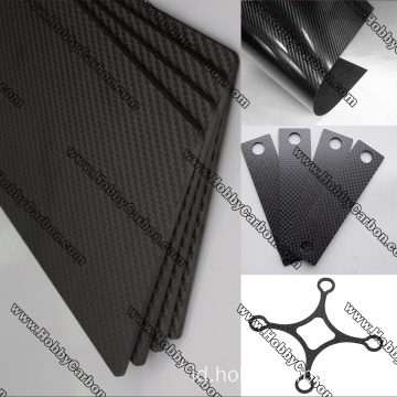3K Woven Carbon Glass Sheet untuk Multi-rotor