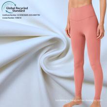 high elastic compression 27 spandex polyamide 73 recycled fabric yogawear