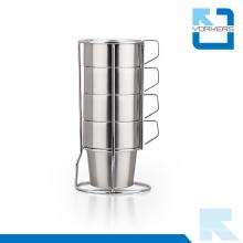 Hot Sale Aço Inoxidável Tea Cup Conjuntos / Ice Cream Cup