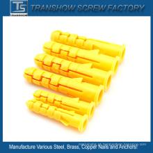 Tipo cônico Plugues plásticos de nylon da âncora de parede