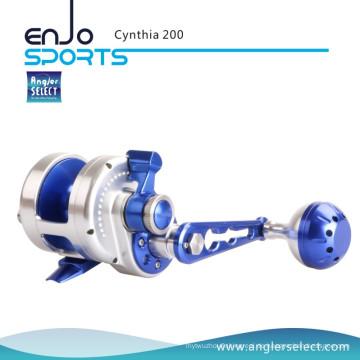 Angler Select Cynthia Sea Fishing Aluminium 8 + 1 Präzisions-Edelstahl-Kugellager Jigging Angelgerät Angelrolle (Cynthia 200)