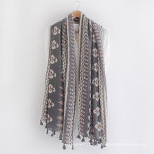 Дерево мода печатных хлопок вискоза печатных Леди шарф (YKY1153)
