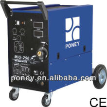 Matériaux en acier de bonne qualité gaz et pas de mosfet de gaz mag mig co2 machine de soudage avec accessoires