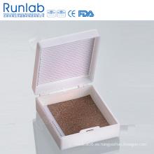 Cajas de almacenamiento de microscopio de diapositivas con 25 lugar