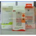 Cajas plegables de la impresión de empaquetado plástico de encargo (PVC 009)