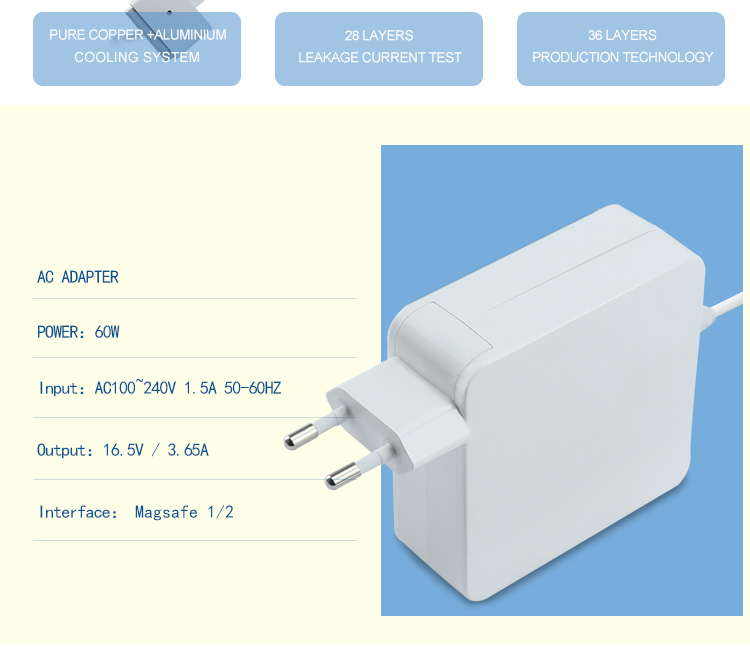 60w EU plug iphone computer adapter