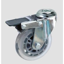 Industrial Caster Transparent Caster with Whole Brake