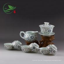 Juego de porcelana por mayor de utensilios de cocina que incluye (1 Gaiwan, 1 jarra, 6 tazas)